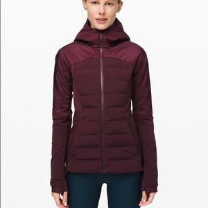 Lululemon Down For It All Hooded Jacket Coat Adobe